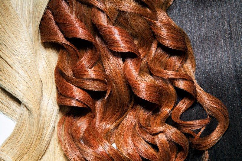 موی رنگ شده